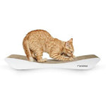 White Cat Scratcher Bed - TOBI