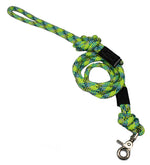 Reflective Climbing Rope Lead With Quick Clip- Lime