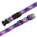 Reflective climbing rope collar- Razzleberry