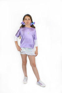 Emma, Unicorn Holographic Short Skirt