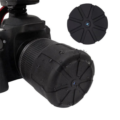 Compressible DSLR Camera Silicone Lens Cover