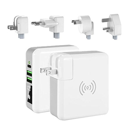 World Wide Multi-Power Gizmo With Wireless Charger And Stored Power
