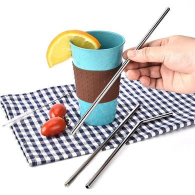 3pcs Reusable Metal Drinking Straws