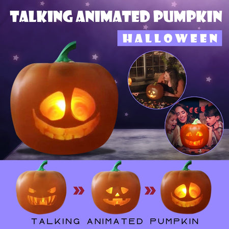 Glow In The Dark Pumpkin with Built-in Projector & Speaker 3-in-1
