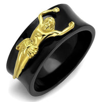 Stainless Ring IP Gold+ IP Black (Ion Plating)