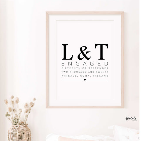 Engagement Print - Customisable