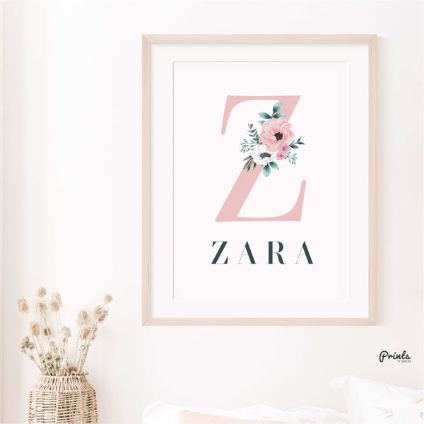 Nursery Baby Print (Name and Initial)
