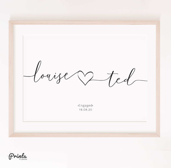 Couple's Prints - Personalised