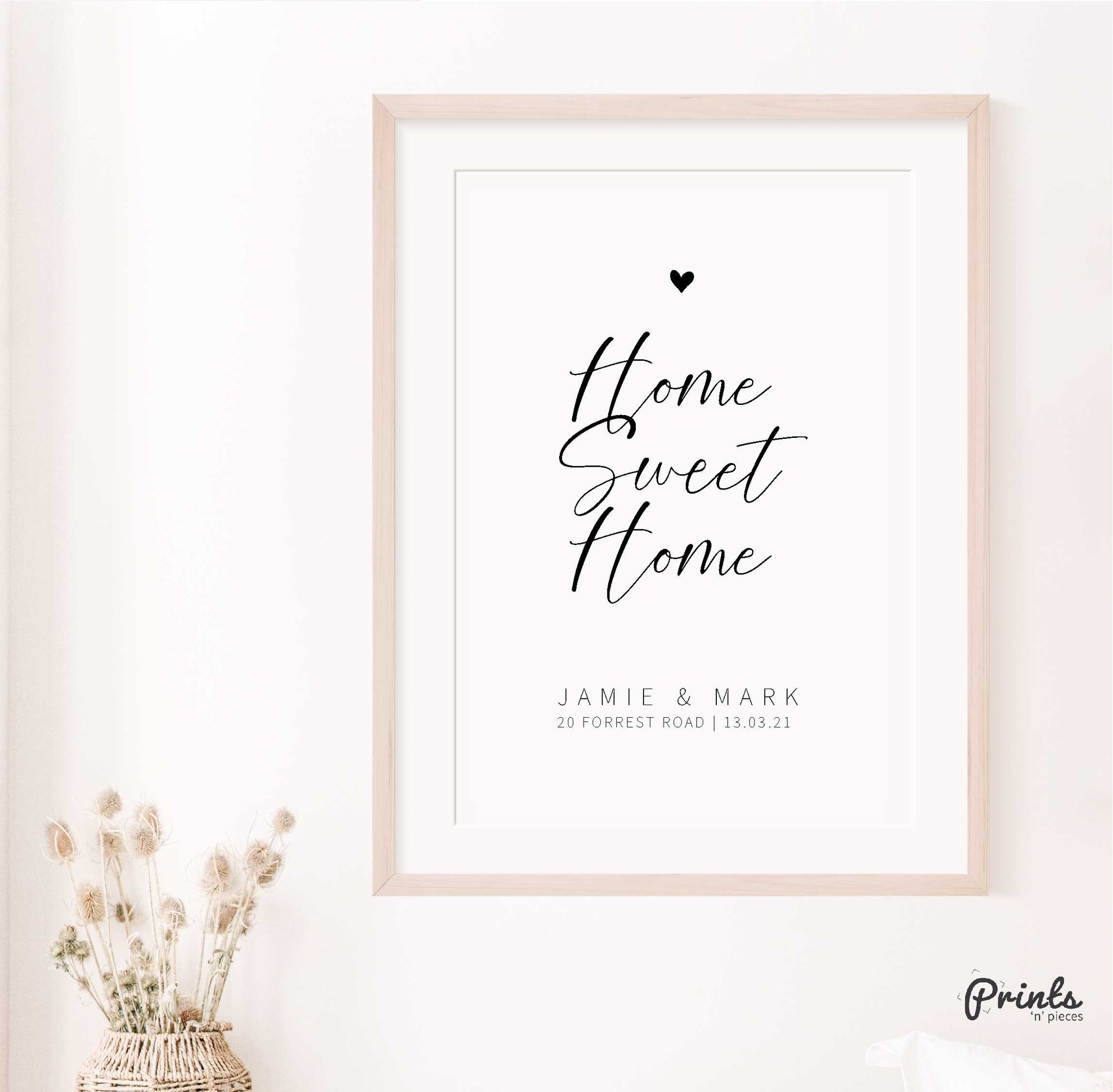 Home Sweet Home | Housewarming Gift | Home Print | Personalised