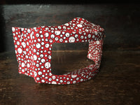 Transparent Lip Reading Mask - Red Bubbles