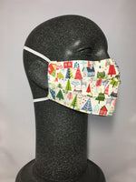Cotton Face Mask - Christmas Town