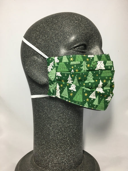 Cotton Face Mask - Green Trees