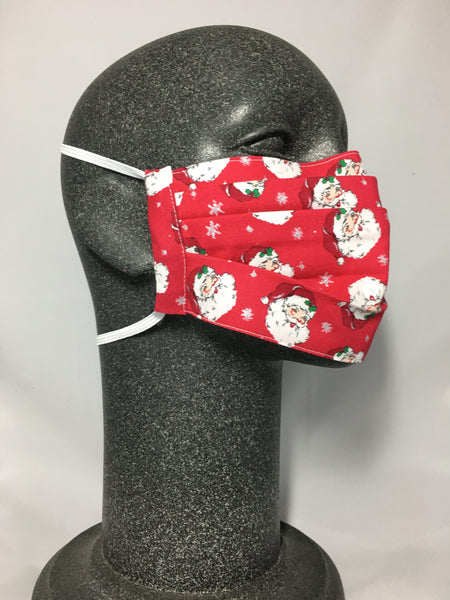 Cotton Face Mask - Small Santa