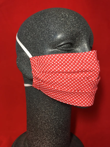 Cotton Face Mask - Red Check