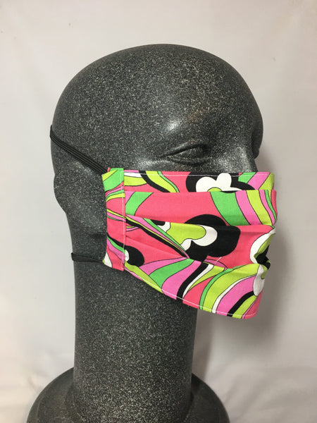 Cotton Face Mask - Groovy Print