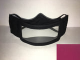 Transparent Lip Reading Mask - Dark Pink