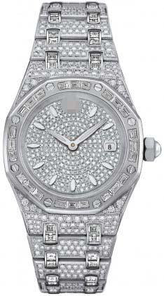 Custom Made Diamond Watch Dial 67604BC.ZZ.1211BC.01