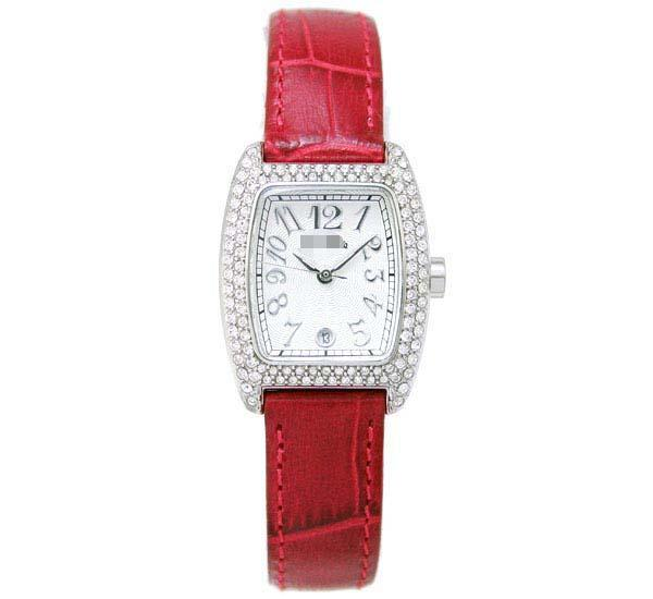 Wholesale Leather Watch Bands S922ZI-SLV-RED