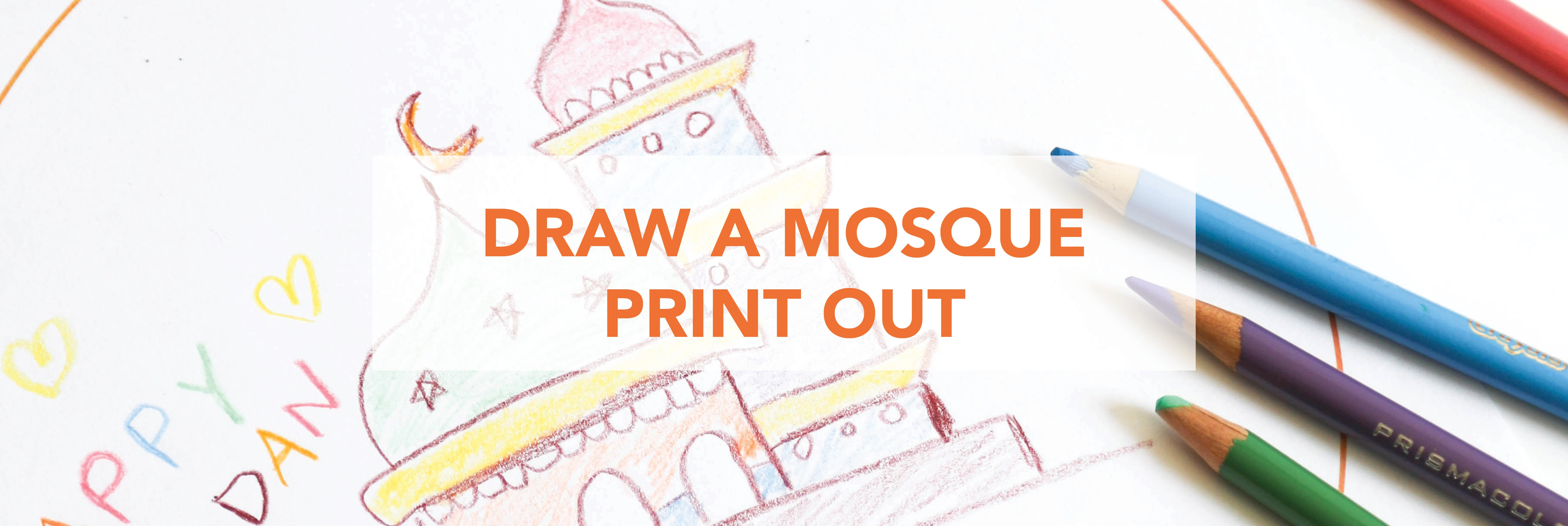 Amasi Decor Draw a Mosque Print Out