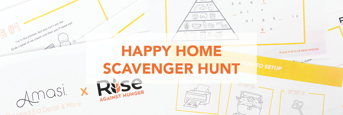 Happy Home Scavenger Hunt by Amasi Decor and Rise Against Hunger