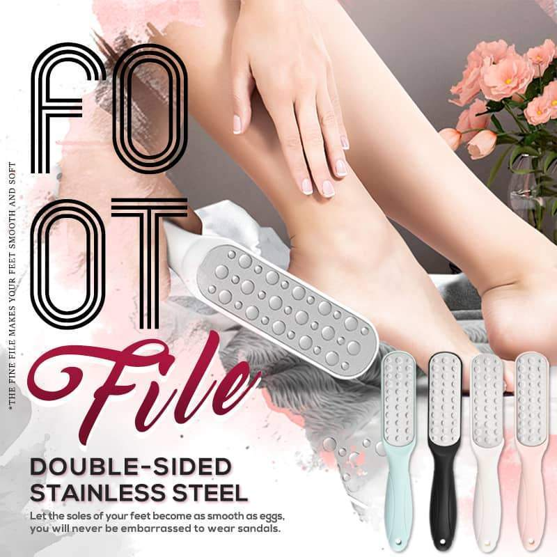 【50% OFF】Double-sided Stainless Steel Foot File(BUY 4 Free Shipping)