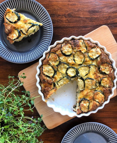 Courgette & Leek Crustless Quiche
