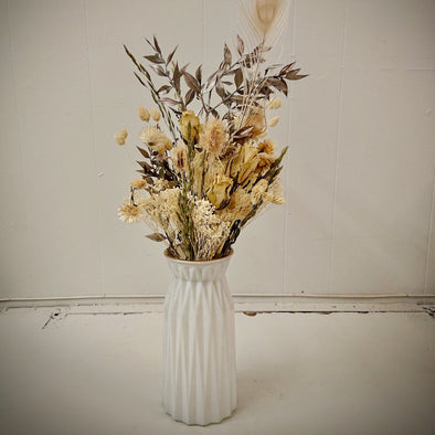 Moss and Fern - White and Silver Bouquet