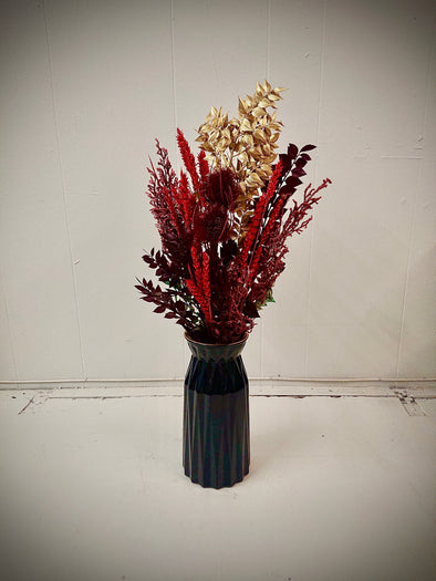 Moss and Fern - Red and Gold Dried Bouquet