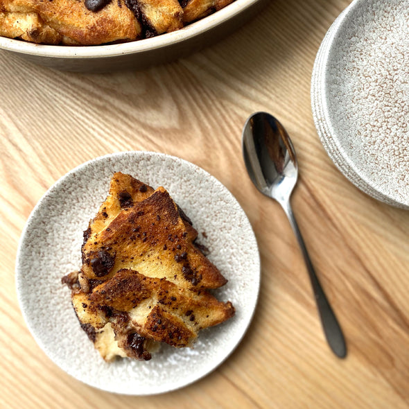 Dark Chocolate Bread and Butter Pudding