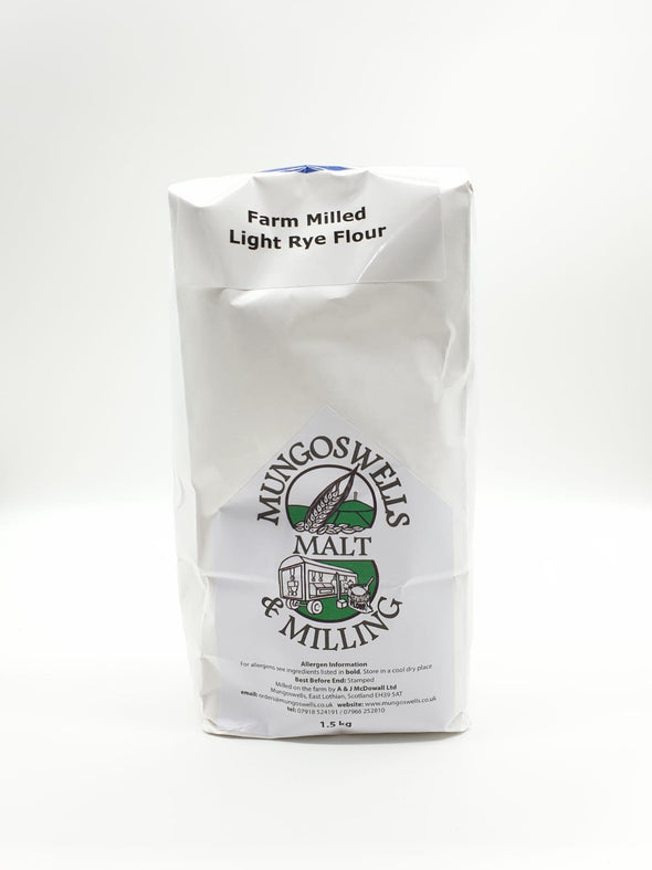 Mungoswells - Farm Milled Light Rye Flour (1.5 kg)