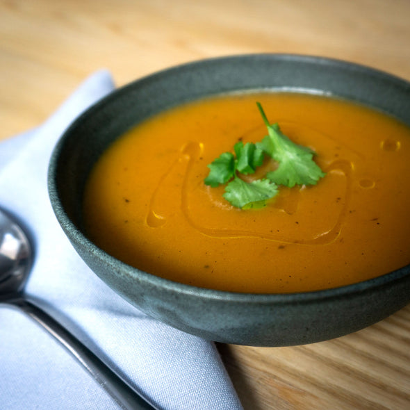 Harissa and Sweet Potato Soup (vg)