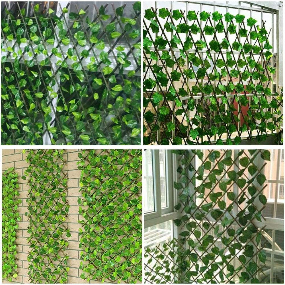 Green Leaf Simulation Fence