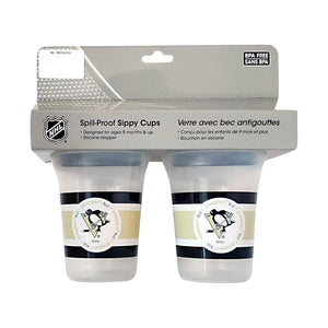 🏒 NHL Penguins Spill-Proof Sippy Cups (2-Pack)