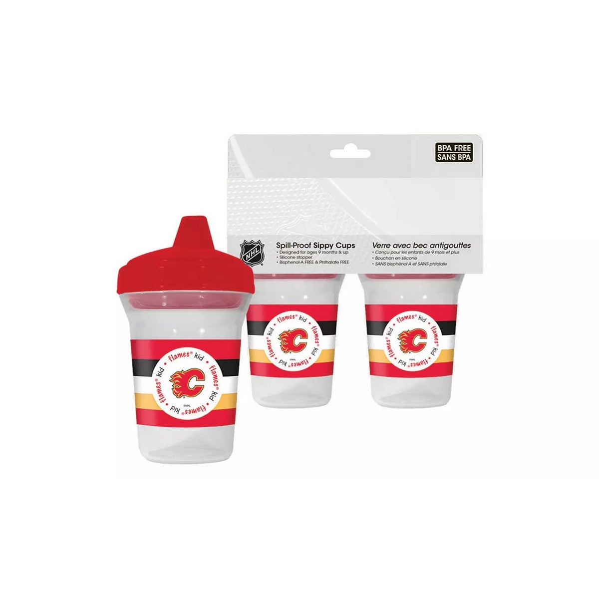 🏒 NHL Flames Spill-Proof Sippy Cups  (2-Pack)