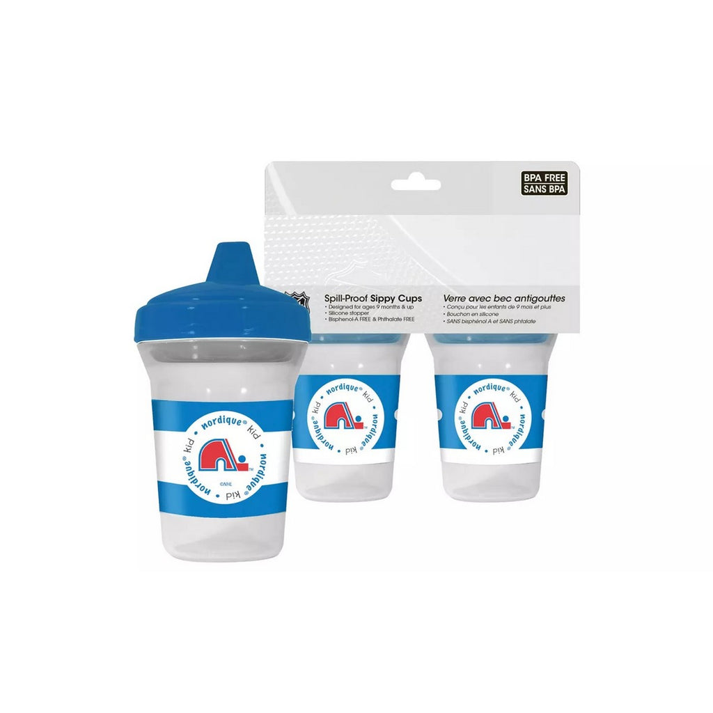 🏒 NHL Nordiques Spill-Proof Sippy Cups (2-Pack)