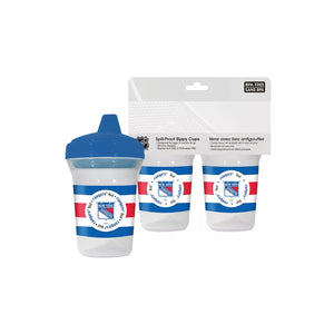 🏒 NHL Rangers Spill-Proof Sippy Cups (2-pack)