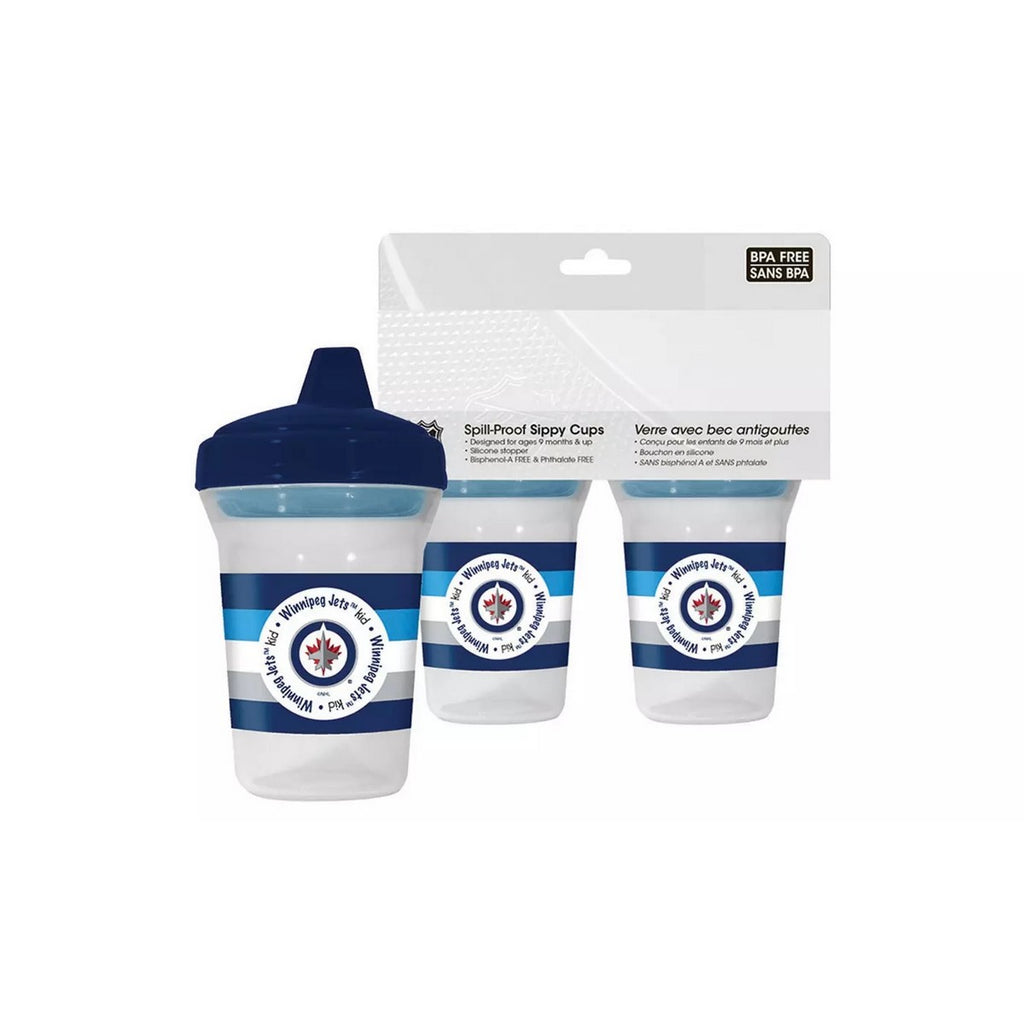 🏒 NHL Jets Spill-Proof Sippy Cups (2-Pack)