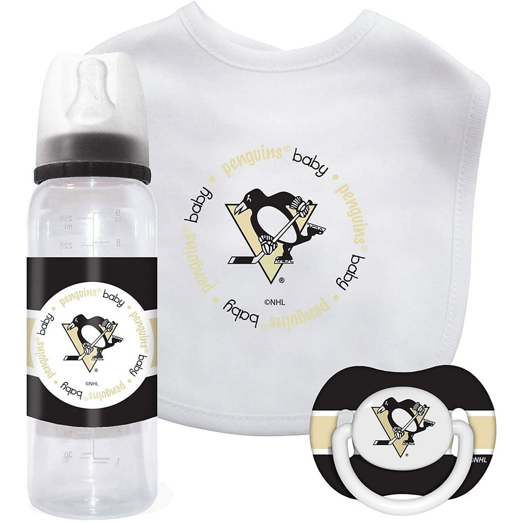 🏒 NHL Penguins Baby Gift Set (3-Piece)
