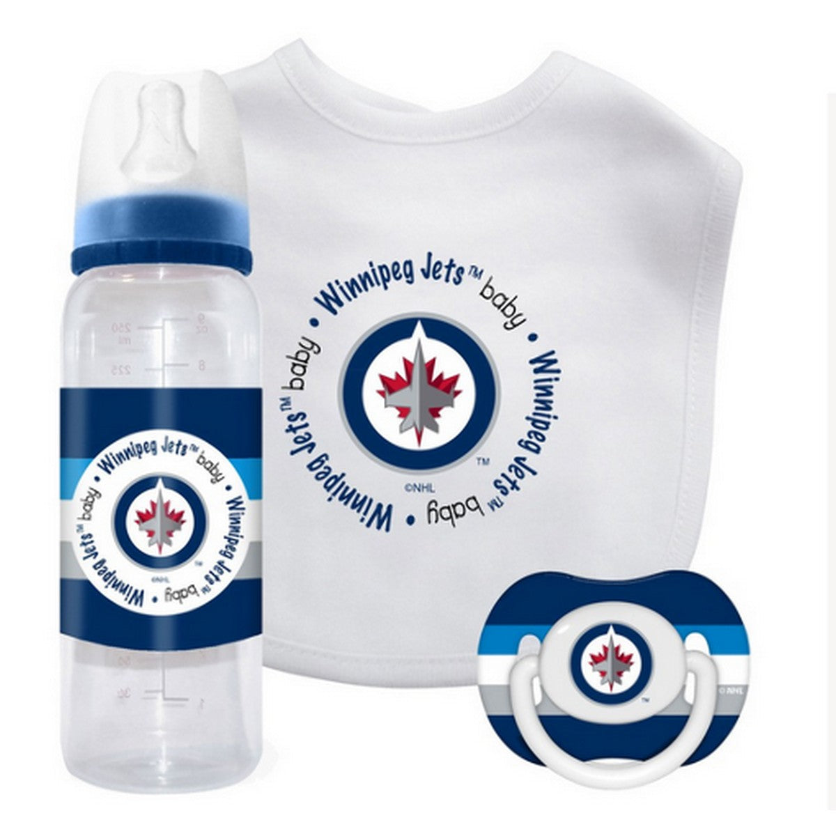 🏒 NHL Jets Baby Gift Set (3-Piece)