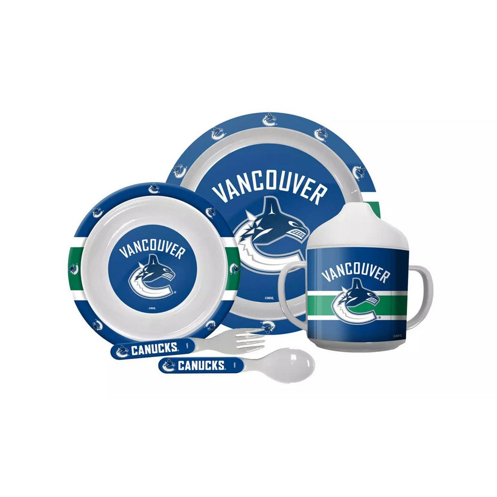 🏒 NHL Canucks Plastic Dinnerware Set (5-Piece)
