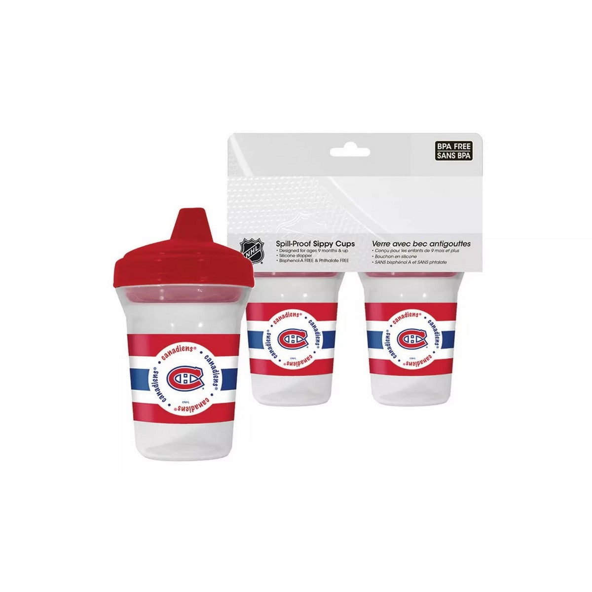 🏒 NHL Canadiens Spill-Proof Sippy Cups (2-Pack)