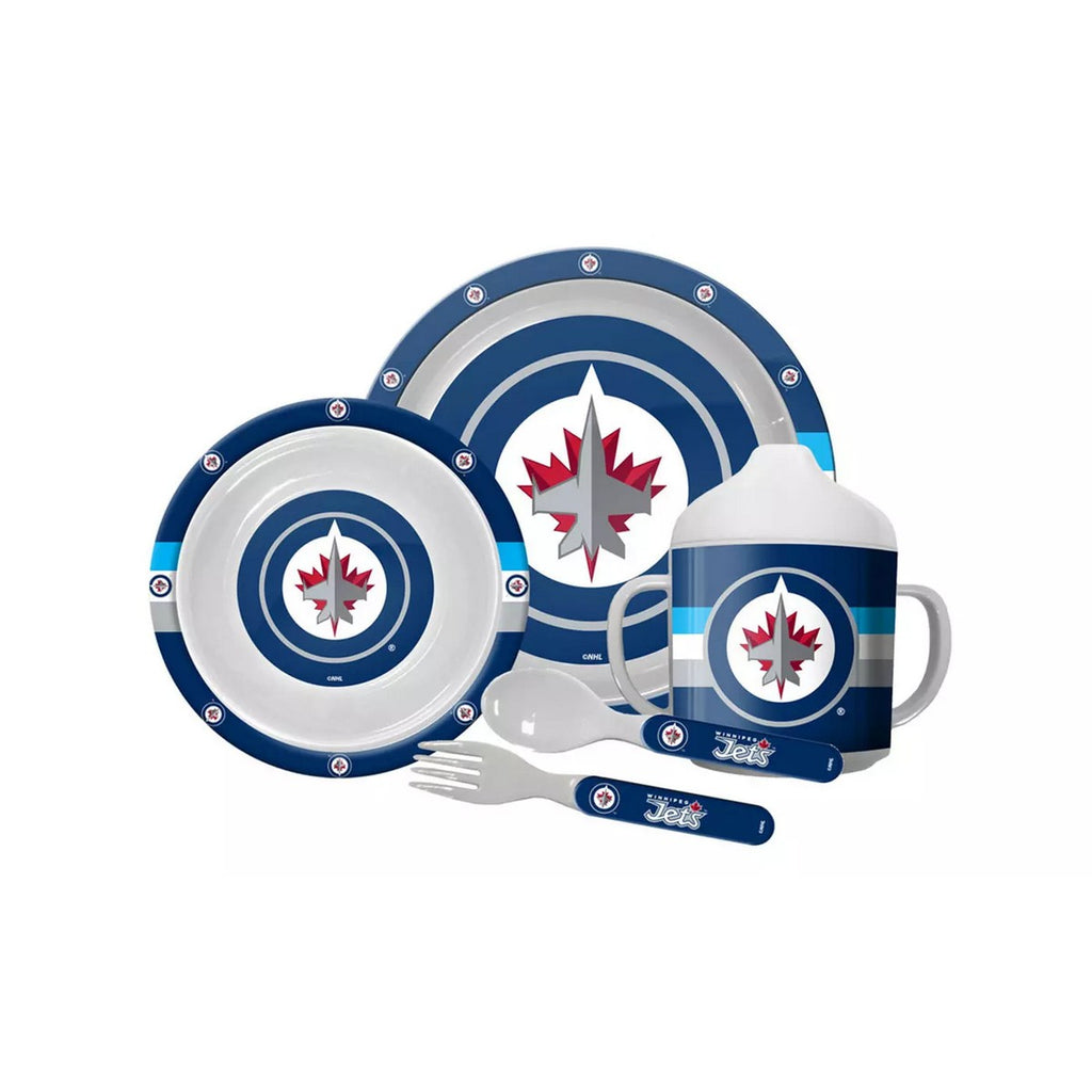 🏒 NHL Jets Plastic Dinnerware Set (5-Piece)