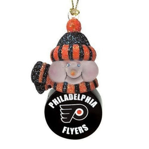Philadelphia Flyers Light-Up Snowman Ornaments - Set of 3