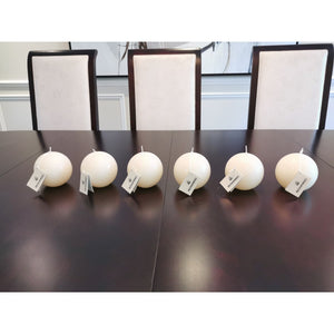 "Bowring 3.5"" Ivory Ball Candle (6 pcs)"