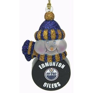 Edmonton Oilers Light-Up Snowman Ornaments - Set of 3