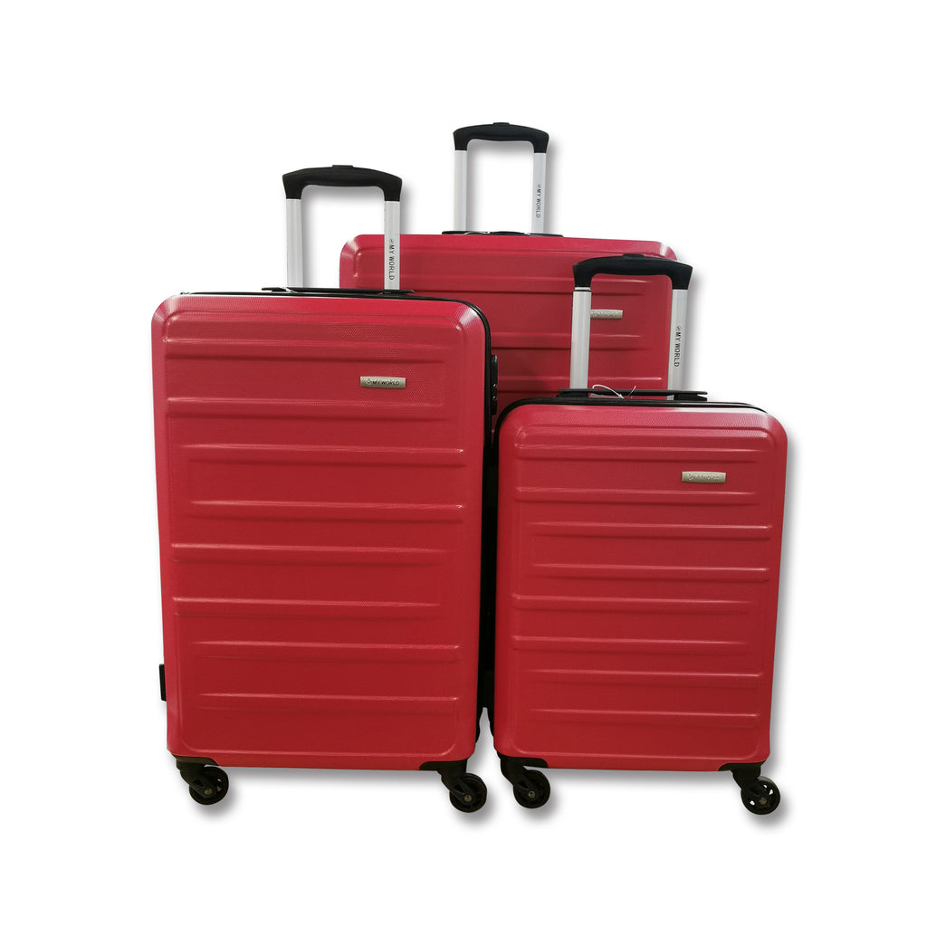"My World Entice 3-Piece Hardcase Spinner Luggage Set (28""+24""+20"")"