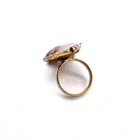 BROWN AND GOLD ARROWHEAD RING