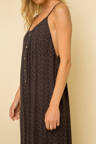 SPAGHETTI STRAP PINK AND NAVY LIGHTWEIGHT FLOWY JUMPER (THAT LOOKS LIKE A DRESS). RACERBACK.