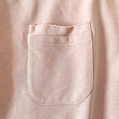 MAUVE LIGHTWEIGHT TERRY TOP - SHORT SLEEVE - WEAR JOY PROJECT
