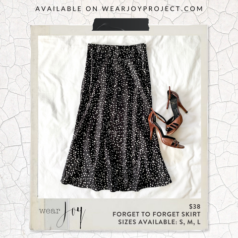 Wear Joy Project - styling mid-length slip skirt - fashion tips - style tips